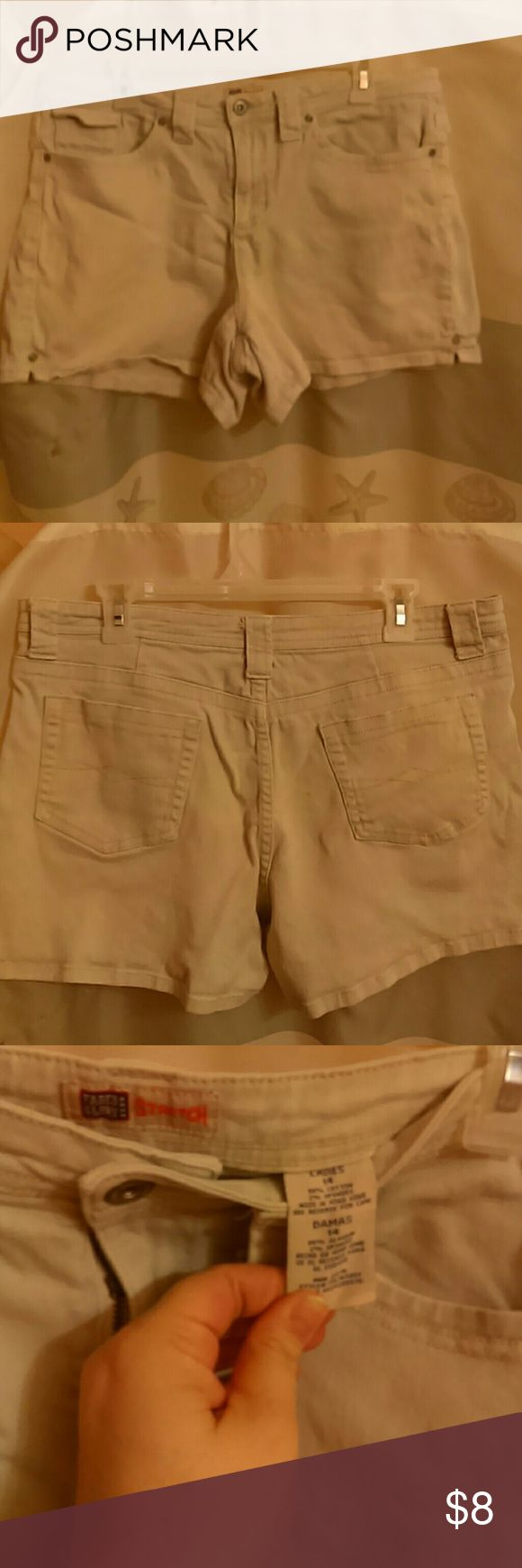 Faded glory light brown shorts jeans Used Light brown size 14 faded glory Shorts Jean Shorts