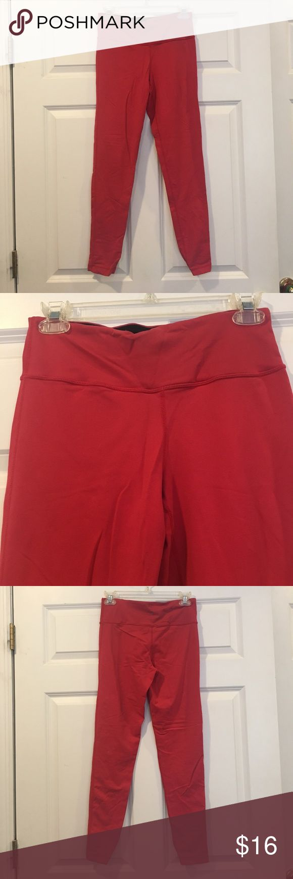 Red-Orange Gym Leggings Red orange colored Gym leggings. Size x-small. Thick. 90 Degree By Reflex Pants Leggings