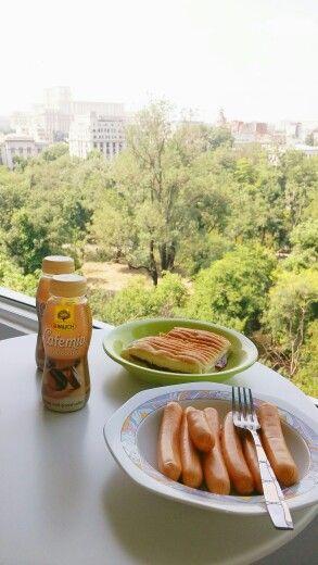 #MYPROJECTS Working breakfast!  9th floor studio coming soon, for rent!❤
