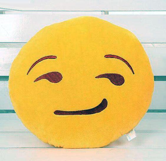 awesome Smirking Face Emoji Pillow
