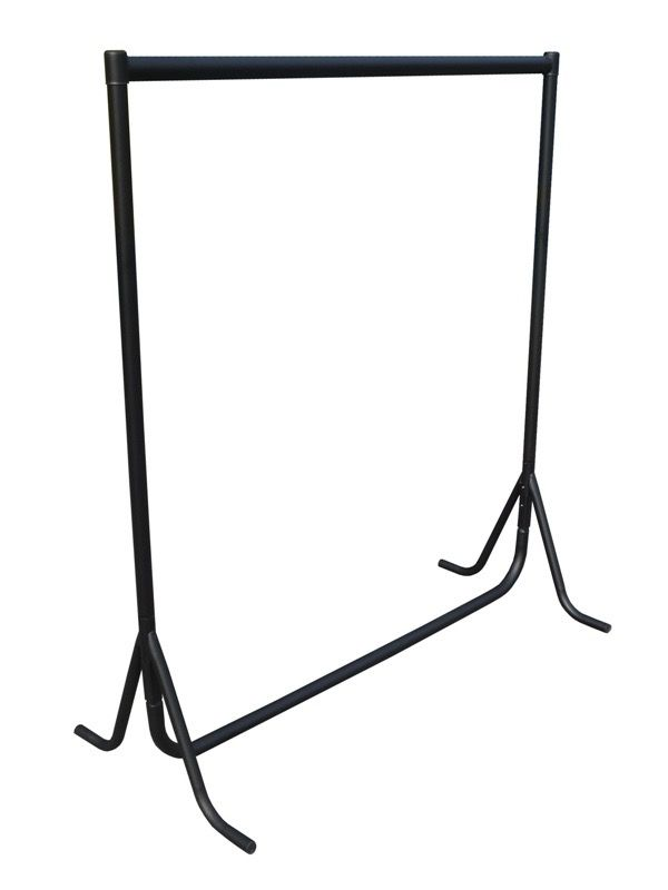 Black metal flatpack fishtail dress rail - easy assemble  heavy duty clothes - rail perfect for clothes storage - clothes display - student rail  #dressrail #clothesrail #garmentrail #fishtaildressrail