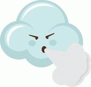 Silhouette Online Store: windy cloud