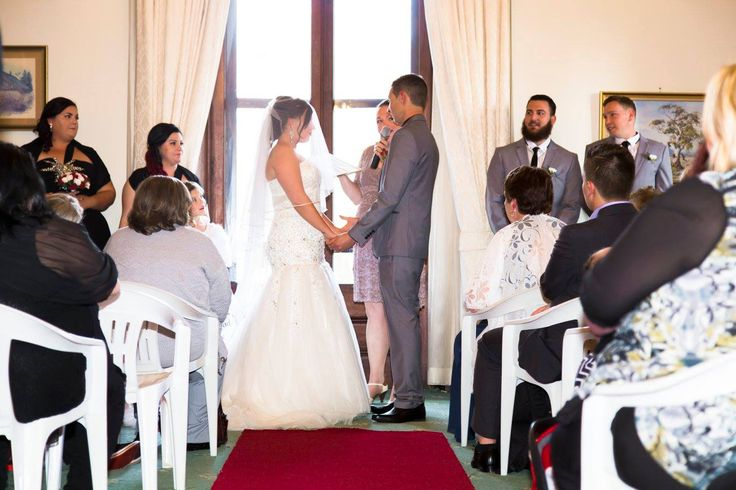A beautiful ceremony in the Cedar room for Stacey & Marley, 1st August 2015 at Duntryleague Orange