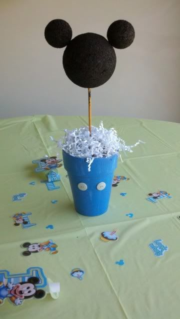 minnie mouse 1st centerpieces | above is: DIY Mickey Mouse Centerpiece...was a hit at my son's First ...