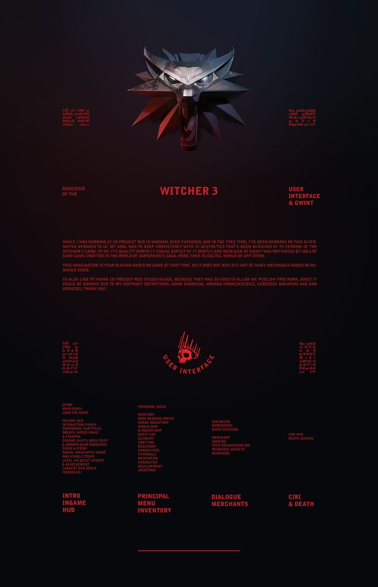 Witcher 3—UI & Gwint Redesigned on Behance