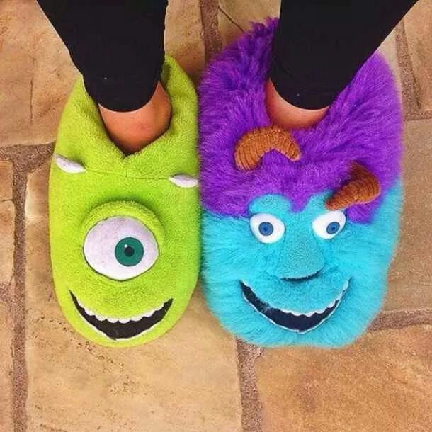 Monsters Inc. Mike and Sulley slippers