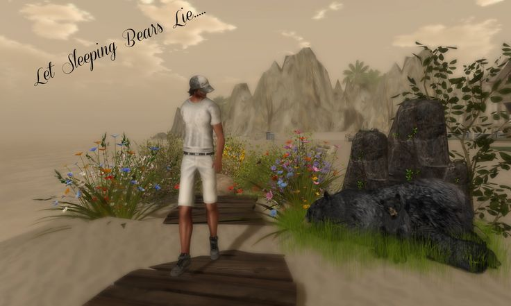 ": Glitch : Snap Shirt @ Swank *Just BECAUSE* Dash Shorts *ARGRACE* Baseball Cap ""Shaggy"" [ NikotiN ]  Forcefield .:Tm:. Creation Spring Summer 6 Mix Flowers Cluster w/ Pathway @ Swank 3…"