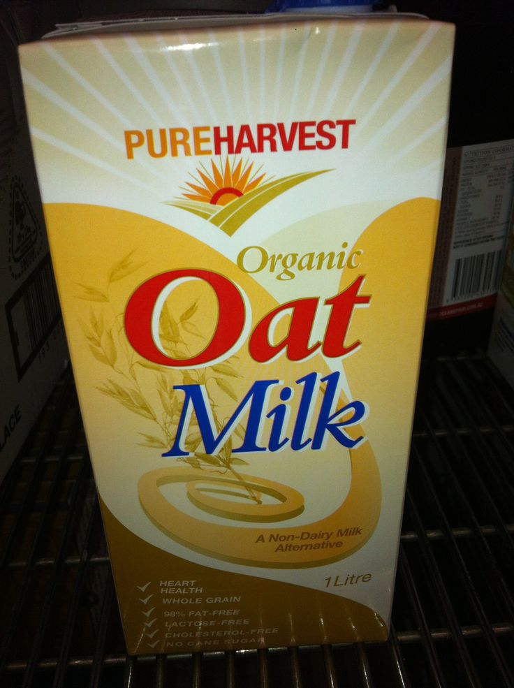 Pureharvest Organic Oat Milk. This is a vegan organic milk that contains no dairy. It can be used in place of milk however it is not fortified with calcium so don't rely on it for calcium.