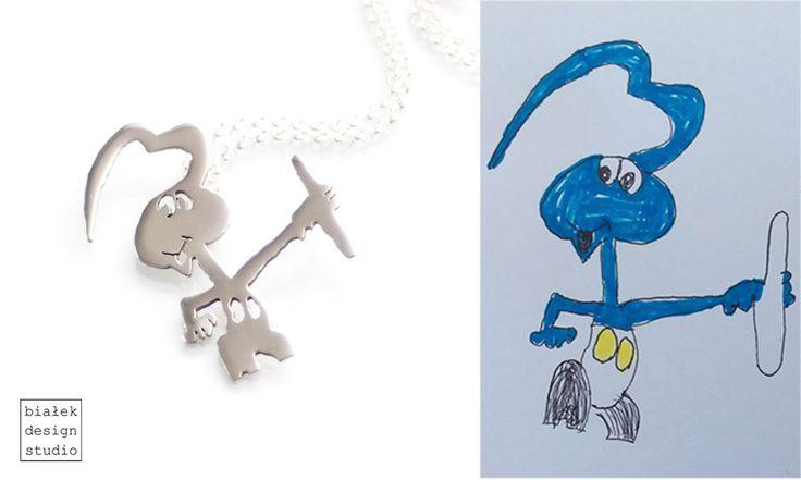 Bialek Design Studio | https://www.facebook.com/bialekdesignstudio/ | Biżuteria z rysunku Twojego dziecka | Biżuteria inspirowana rysunkiem dziecka | Biżuteria z rysunku dziecka |