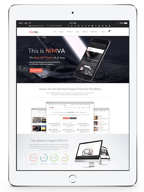 Nimva – Ultimate Theme for WordPress