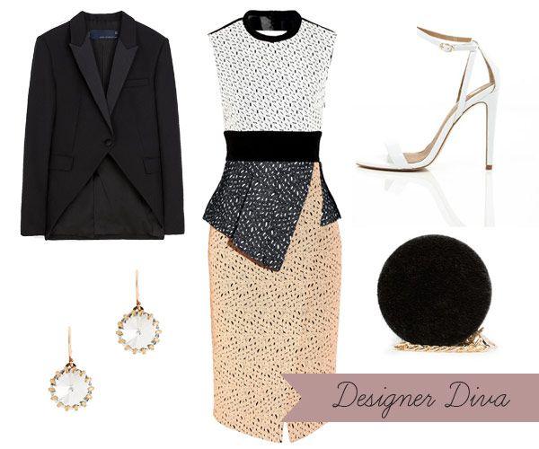 Designer Winter Wedding Guest Style  | onefabday.com