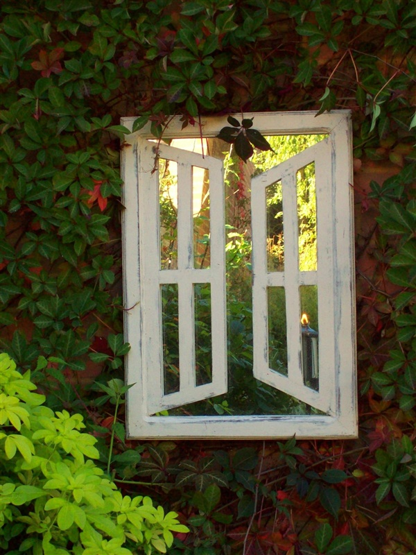 Illusion Garden Mirrors Double Opening Windows (Portrait) UK | Garden Mirrors. Outdoor Mirrors & Illusion Mirrors | Products