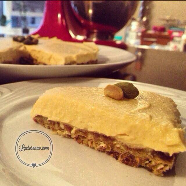Cheesecake de pistache e manga sem glúten, sem lactose e vegana - Lactose Não
