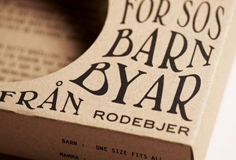 Packaging for SOS Barnbyar | by Planeta design