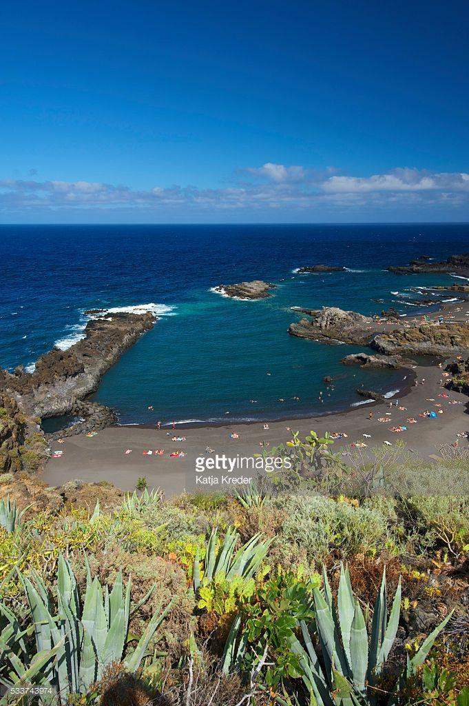 Foto de stock : Playa de los Cancajos, La Palma, Canary Islands, Spain, Europe