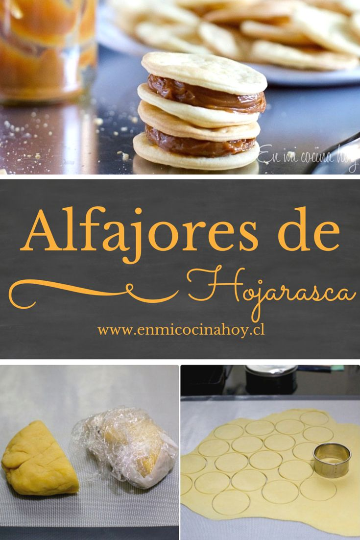 Deliciosos discos de masa hojaldrada rellenos con manjar: alfajores, receta chilena