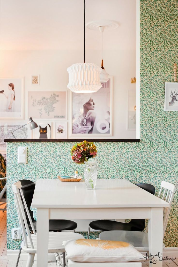 I just have to show you a few rooms in this home shot by Lina Ostling, a Scandinavian photographer who has a knock-out blog. I just LOVE the first room shown below. It's so, so lovely and gave me a big shot of inspiration for the weekend. I adore green in all of its shades, I find it so pretty