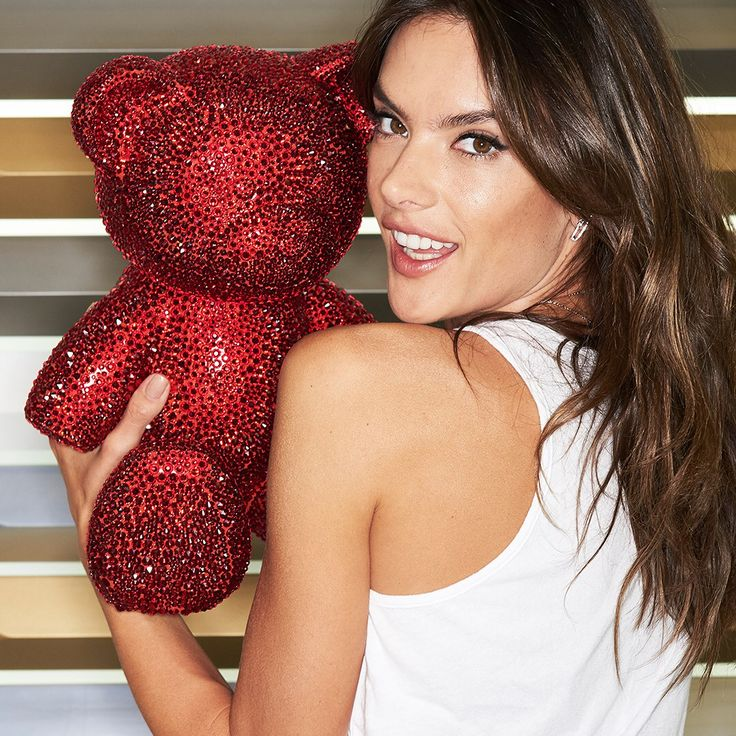 Alessandra Ambrosio with a Teddy bear from Swarovski #celebrity #famous #star #actress #model #AlessandraAmbrosio #Teddy #cool #great #perfect #style #fashion #women #beautiful #lovely #nice #pretty #cute #hot #wow #love #Swarovski#newphoto