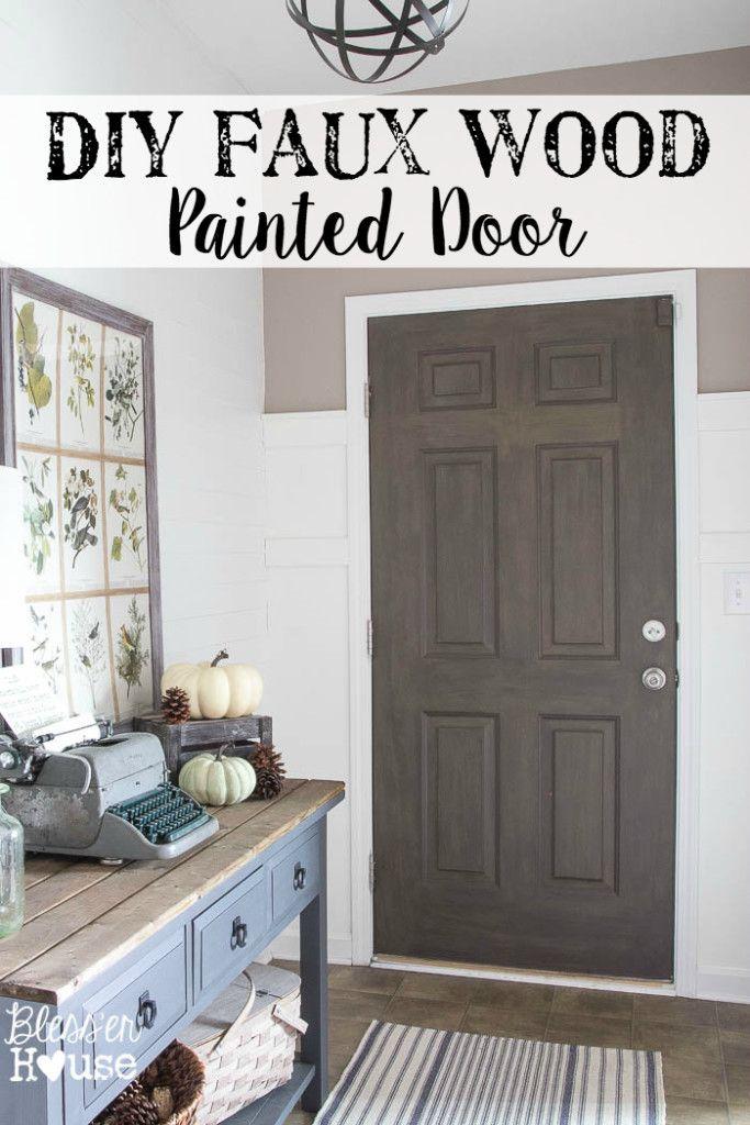 DIY Faux Wood Painted Door | Blessu0027er House