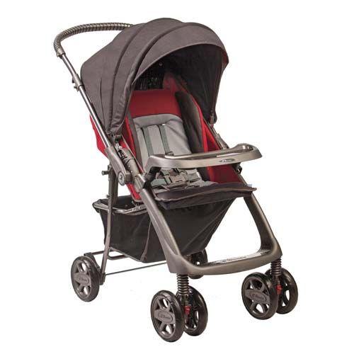 Carrinho de Bebê Rubi Cinza Granito 150301 - Hércules