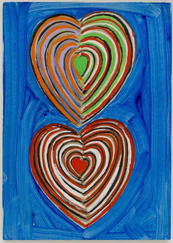 Two Hearts, c. 1990 by Terry Frost © Estate of Terry Frost. All Rights Reserved, DACS/Artimage 2018. Photo: Steve Tanner #stivesschool #tachisme