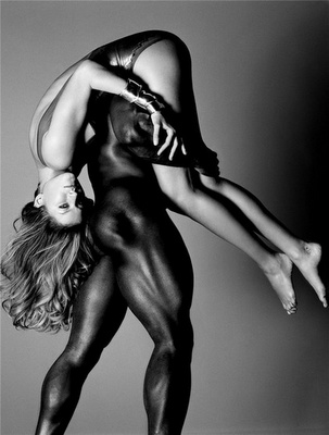 Black and white interracial porn