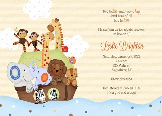 SS Noah Ark Invitation by Kimbellished