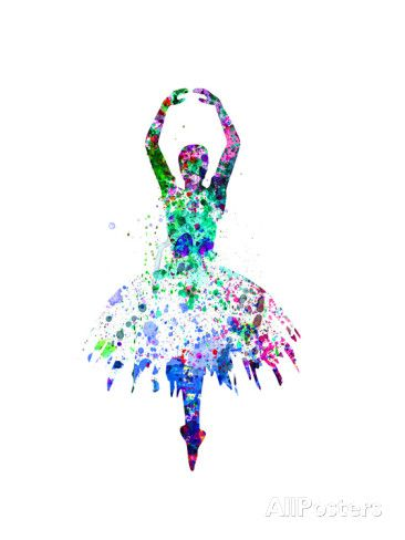 Ballerina Dancing Watercolor 4 Posters by Irina March at AllPosters.com