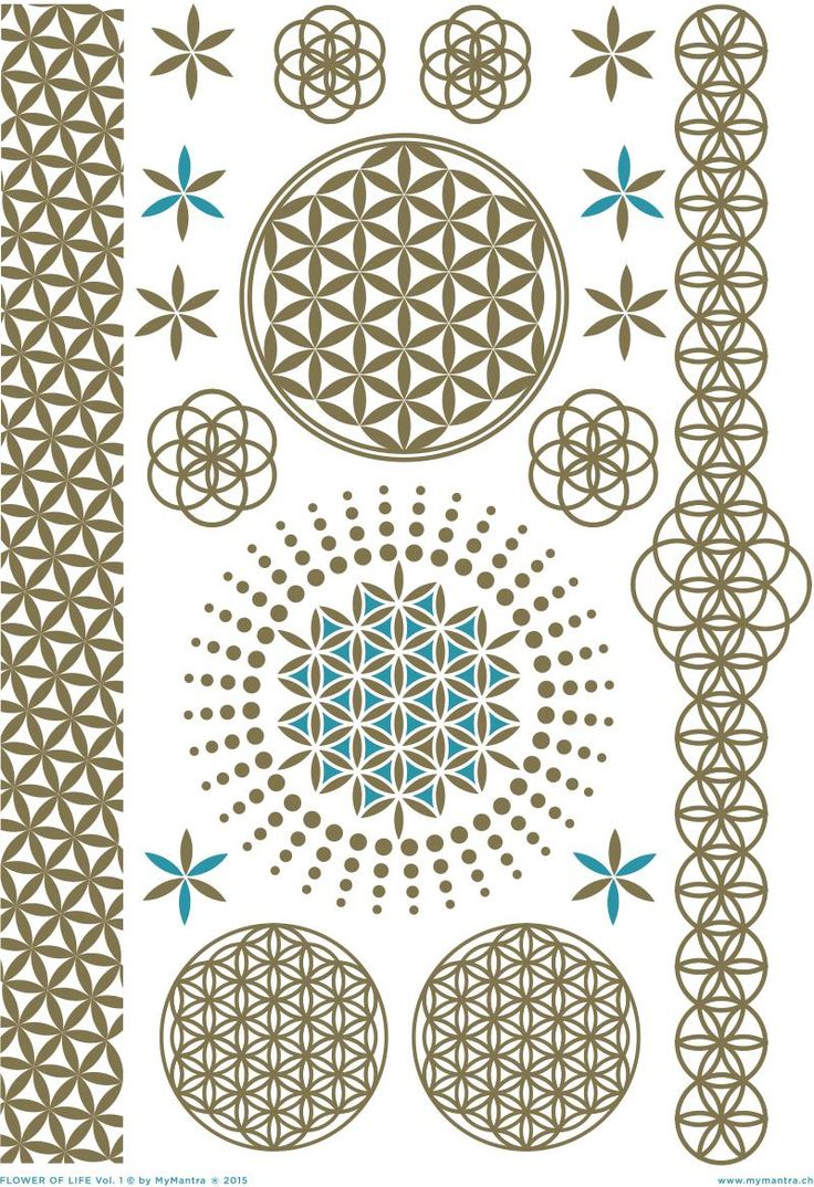 FLOWER OF LIFE Vol. 1 | MY MANTRA GOLDEN ENRERGY TATTOOS
