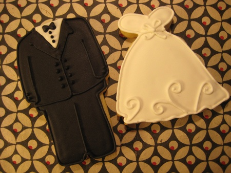 Tuxedo & Wedding Dress Cookies