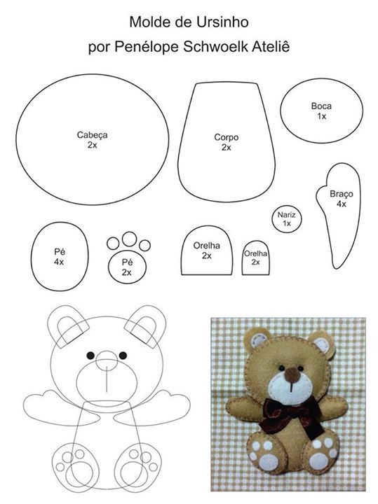 DIY Felt Bear - FREE Sewing Pattern
