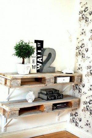 Schöne Regale aus altem Gerüstholz. Noch mehr Einrichtungsideen gibt es auf…