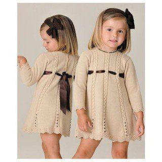 Kız Bebeklere Örgü Elbise Modelleri 185