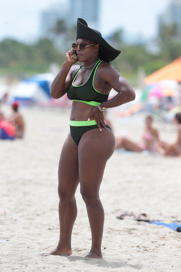 Celebrity & Entertainment   Bikini-Clad Serena Williams Hits Up Miami Beach With Eva Longoria   POPSUGAR Celebrity Photo 8