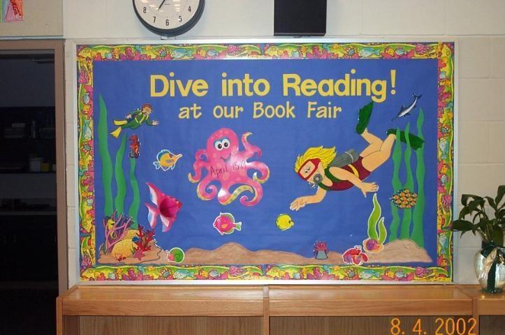 Red Classroom Decor ~ Water theme bulletin board boards pinterest