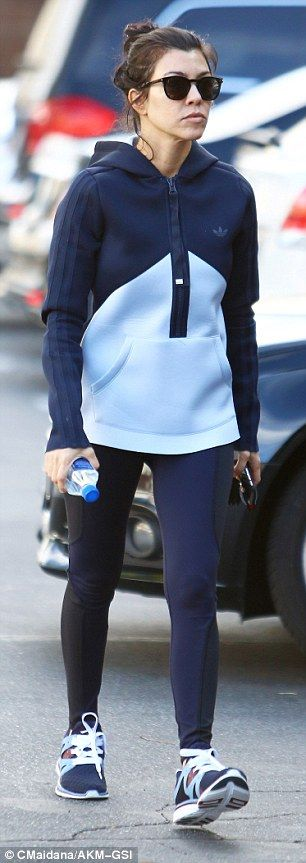 Getting fit: Kourtney recently revealed to Harper's Bazaar her struggle to lose weight following the birth of her son Reign, saying, 'I like to take my time and not try to put too much pressure on myself, but it's hard'