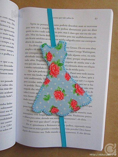 Закладка для книг своими руками. Платье