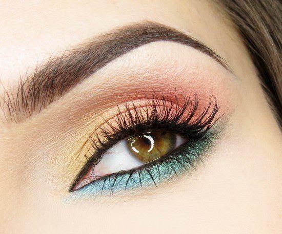 bellydance makeup | ... , orange, and teal eye makeup | Sparkly Belly Dance Related Mak