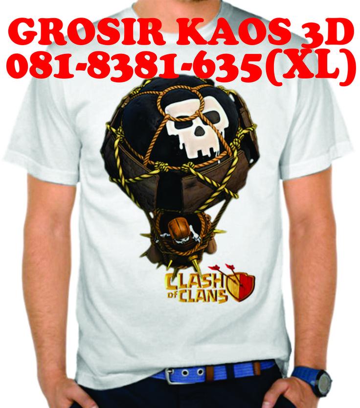 081-8381-635(XL), Kaos 3d Surabaya, Kaos 3d Spiderman, Kaos 3d Skull