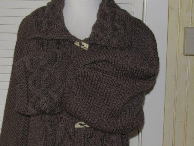 Hand knit Aran Celtic coat