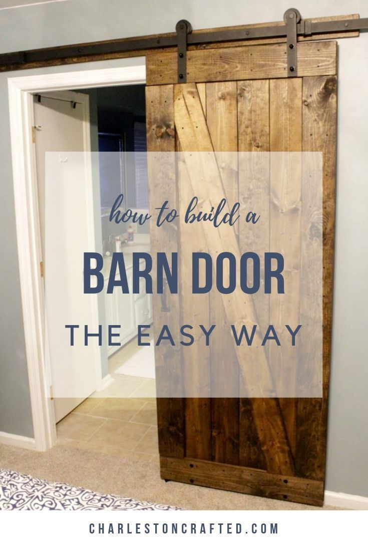 Easiest Cheapest Way To Build A Rustic Barn Door Free Pdf Plans Diy Sliding Barn Door Making Barn Doors