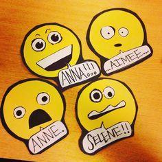 emoji door decs (decor dec name tag tags ra dorm reslife)