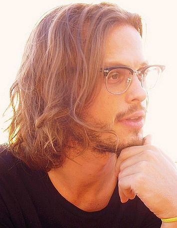 Doctor Spencer Reid Criminal Minds-love this when guys wear their hair long with a beard!