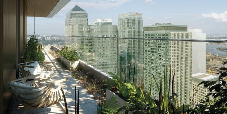 Wardian Towers London. London's highest botanical gin garden goes on sale
