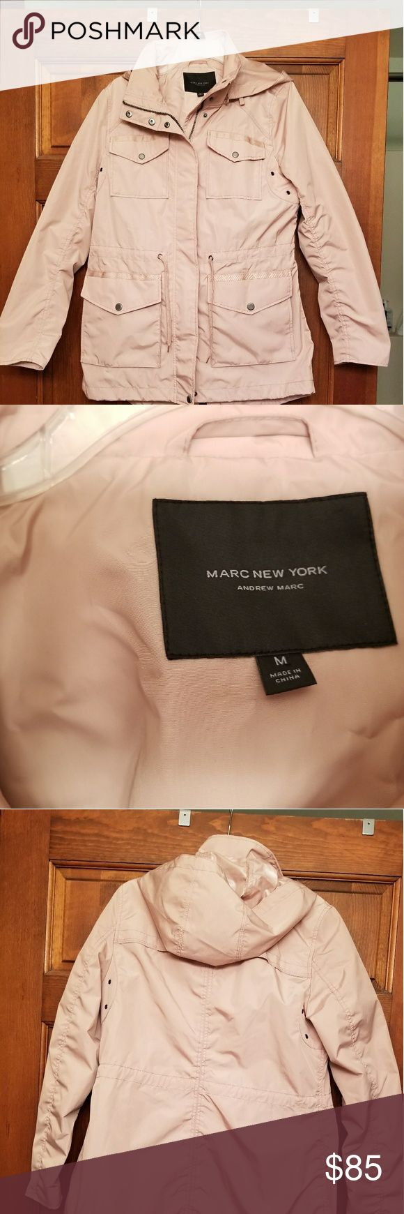 Marc New York Shilowe Cargo Rain Jacket Cute hi lo hem, blush nude, rain jacket from Stitch Fix. Worn once, was a little tight in the shoulders for me. Perfect for spring into summer! Marc New York / Stitch Fix Jackets & Coats Trench Coats