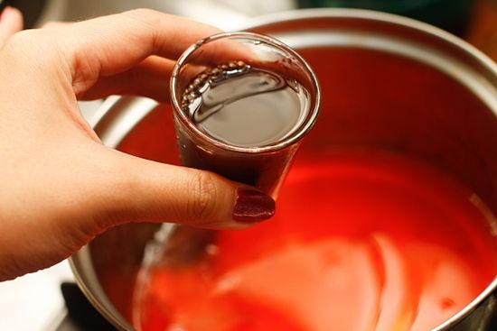 Red wine jello shots.  Sounds like it would take like sangria.