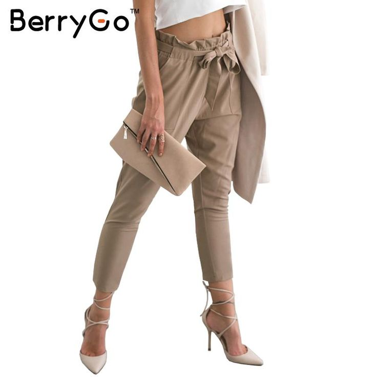 Women's Casual Loose High Waist Stretchy Skinny Slim Long Pants