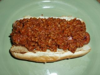 Hot Dog with Chili ... Add onions and Slaw