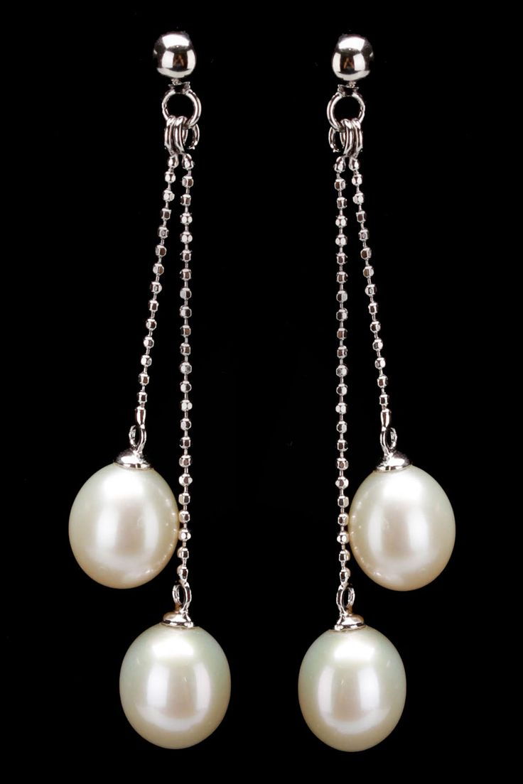 Splendid Pearls 78mm Double Pearl Earrings In White  Beyond The Rack