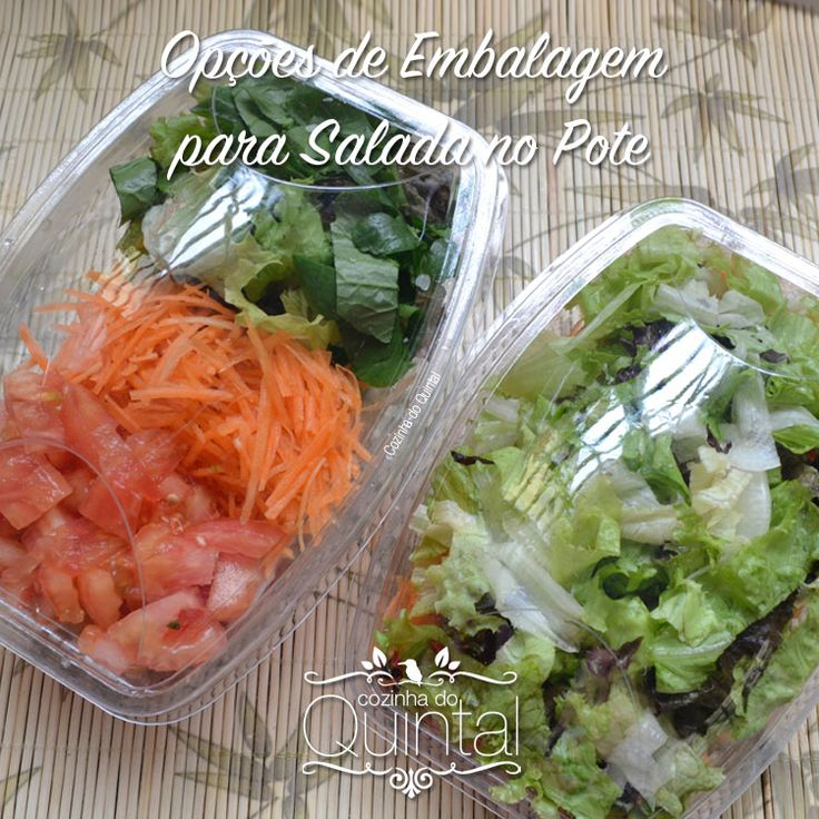 Embalagens diferenciadas para Salada no Pote! Faça, Venda e Lucre!